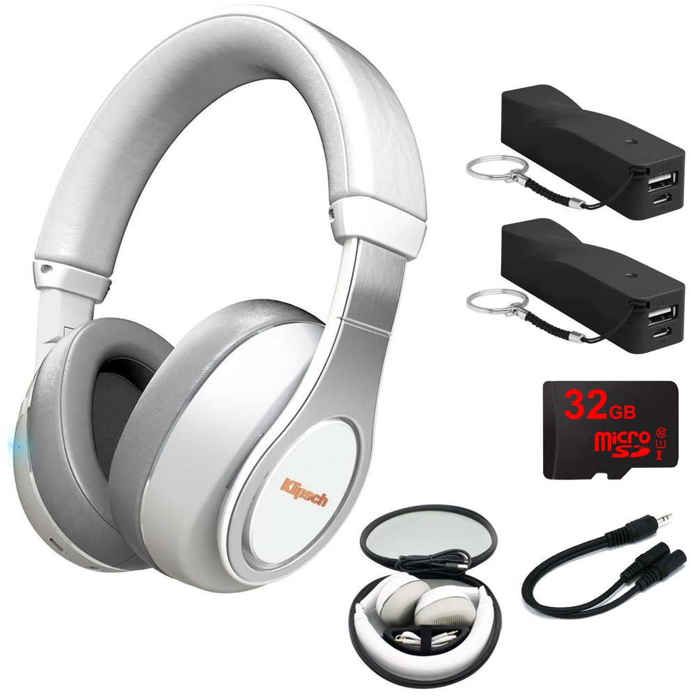 Get Quotations Klipsch Reference Over Ear Bluetooth Headphones White 1063394 2x Voltix 2600mah Portable
