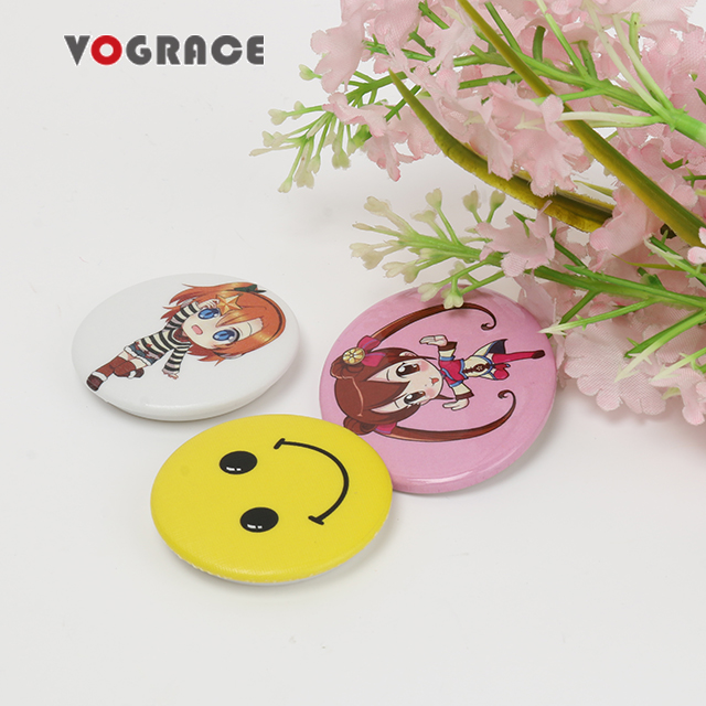Vograce Custom Cheap Badge Buttons Factory Directly Personalized Tinplate  Badge Round Square Pin Badge For Promotional - Buy Custom Plastic Pins  Round