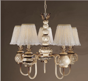 Retro Europe 8 Lights Fabric Shade chandelier
