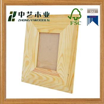 china supplier cheap wholesale natural 3x3 art minds unfinished wood frames - Natural Wood Frames