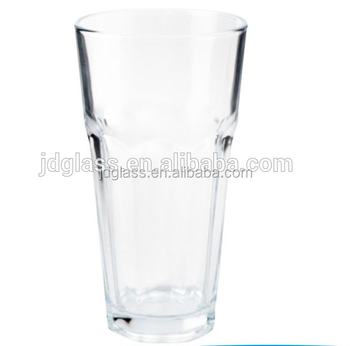 43a0435849c7 Brand New 16oz Drinking Water Glass Cold Juice Clear Tumbler Set Of ...