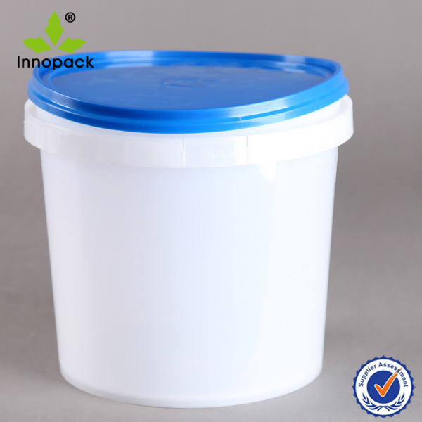 plastic 1 gallon clear paint bucket glue can 4 liter with lid