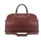 TOURBON unisex Brown Genuine Leather overnight gym bag weekender travel duffel bag