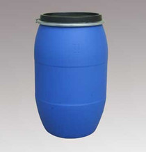 200 litre blue chemical resistant plastic drum