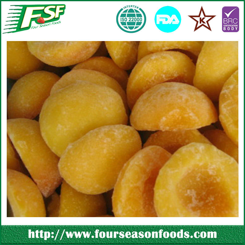High evaluation 2016 chinese frozen iqf yellow peach cuts /slices/dices