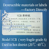 Fragile Grades Range 1CB Destructible Adhesive Vinyl,Master Rolls of Destrructible Vinyl