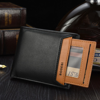 Hot Sell Bogesi Men's Short Style wallet,Removable Card holder Multi Function Coin Purse For Men
