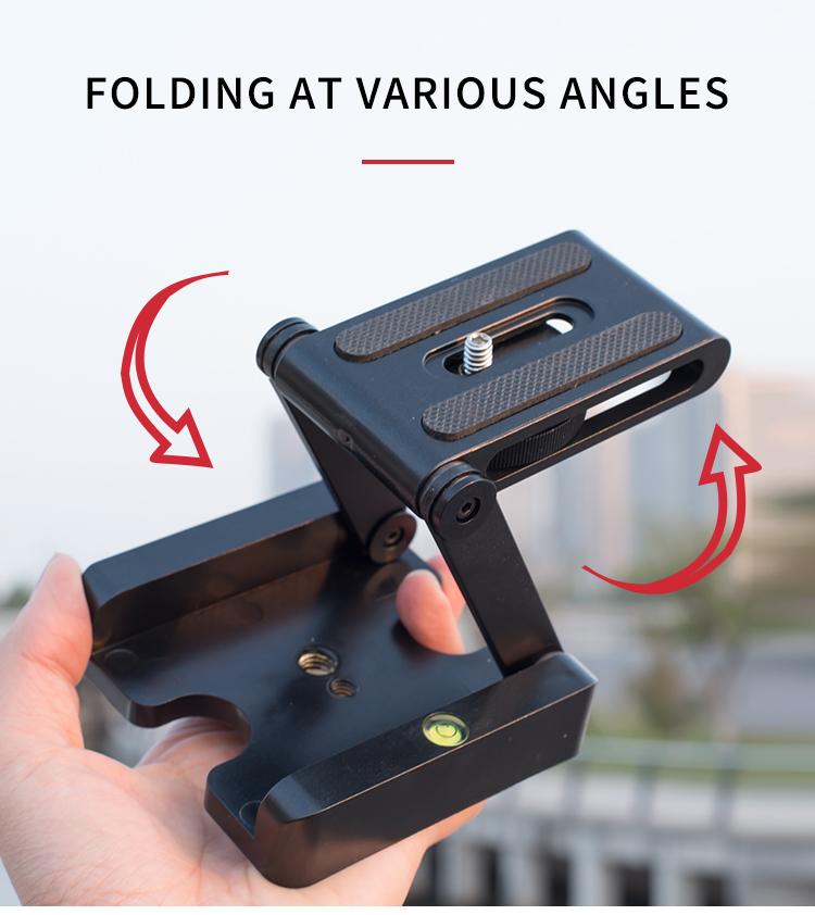Z type folding head factory folded Camera DSLR Z Flex Tripod