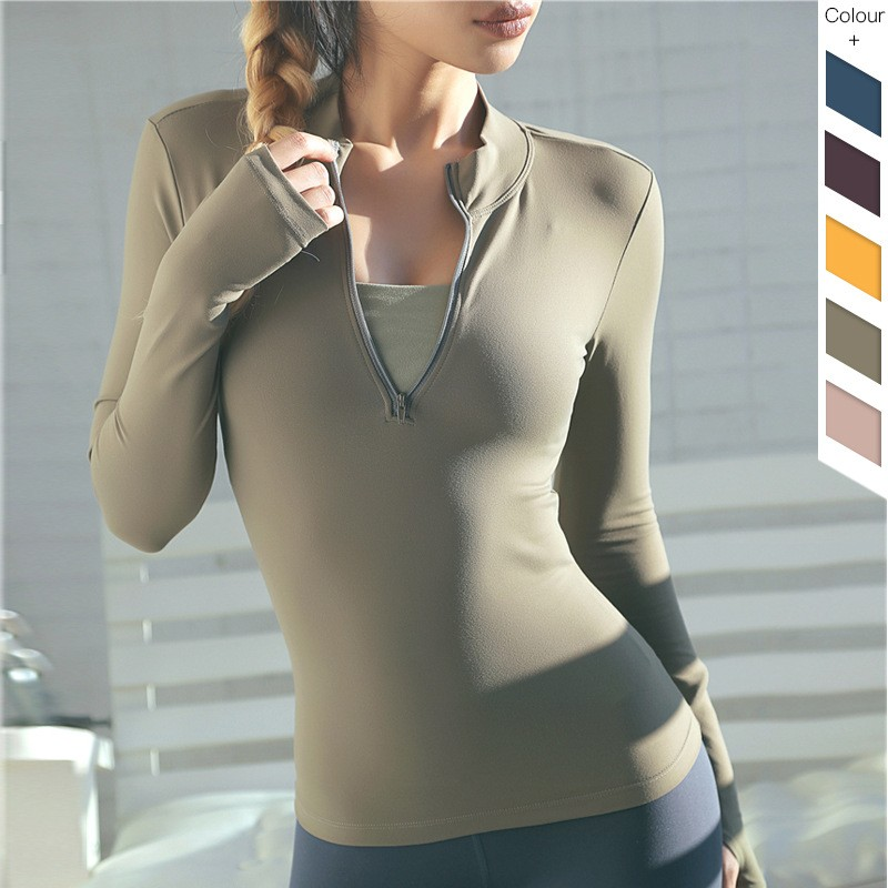 Long Sleeves Shirt With Zip 8