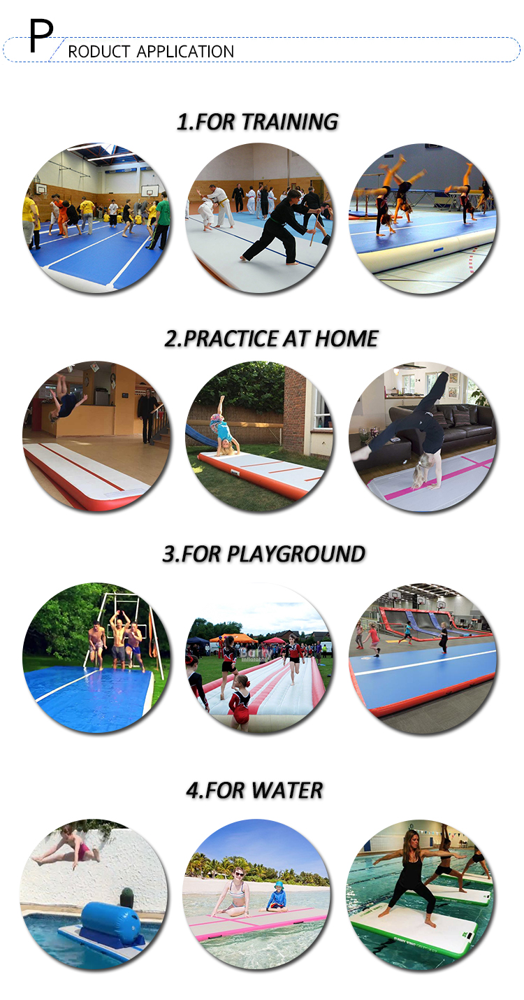Custom Size AirTrack 3m 4m 5m 6m 8m 10m gym mat tumble track inflatable air track for gymnastics