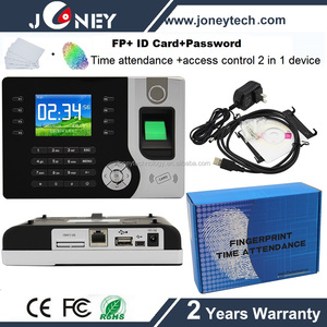 TCP/IP Biometric Fingerprint time attendance and access control system with RFID reader