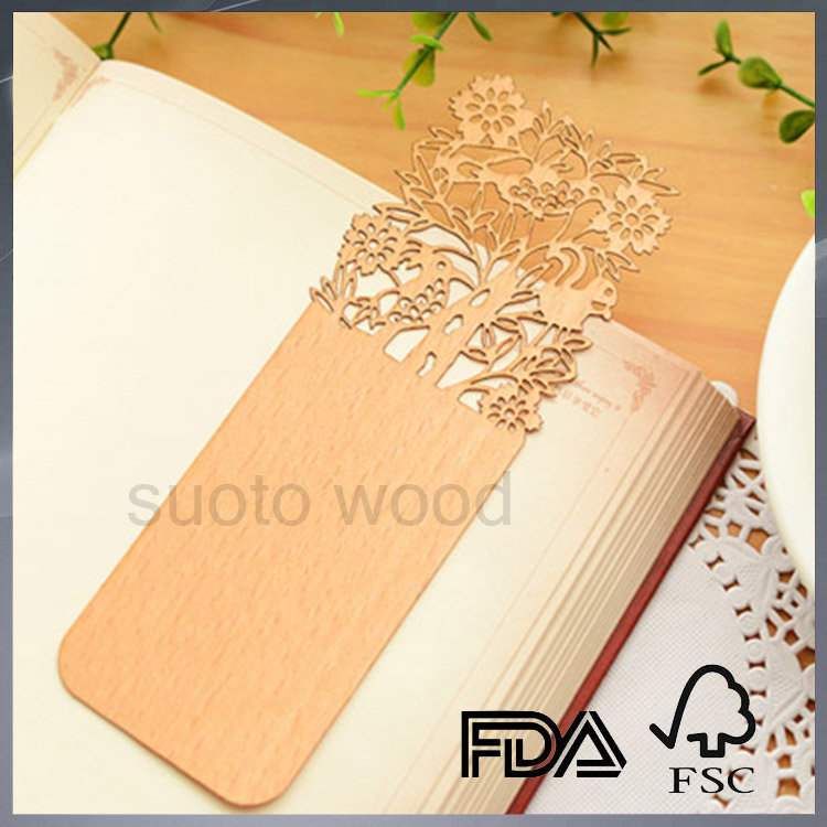 Fashionable wooden bookmark wooden crafts