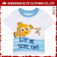 Wholesale Newest Design Kids High Quality Funny T Shirt White