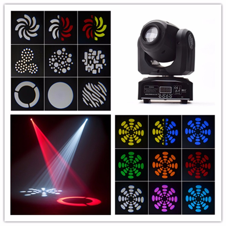 30W 8 Patterns DMX Led Gobo Moving Head Stage Lights
