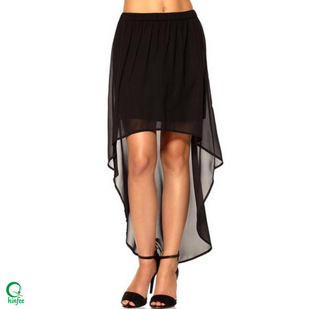 d1d8408e0e SK077 Lady Short Front Long Back Summer Chiffon Skirts Wholesale Cheap  Skirts