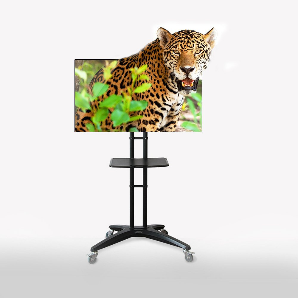 Fleximounts TV Cart Mobile TV Stand with Wheels for most 32-65 inch LCD LED Plasma Flat Panel Screen