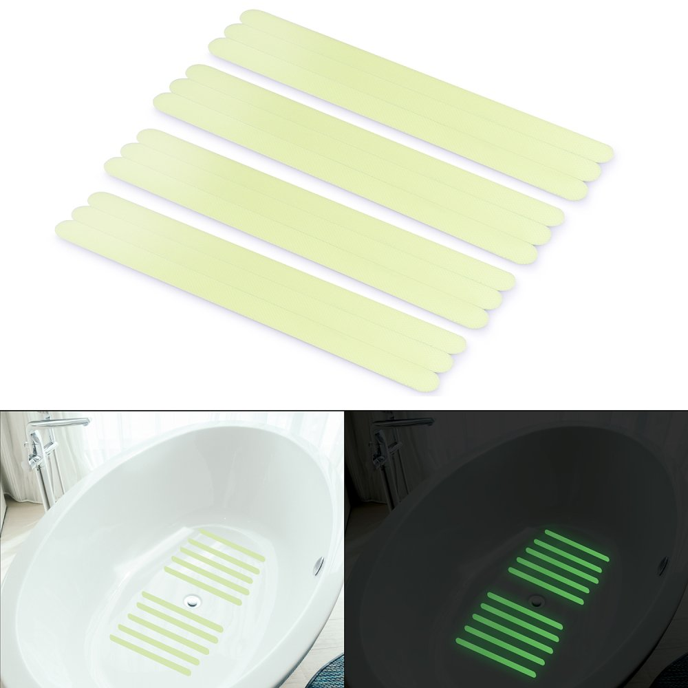 Get Quotations Non Slip Safety Shower Treads Basenor Glow In The Dark Tape 12pcs 11 8