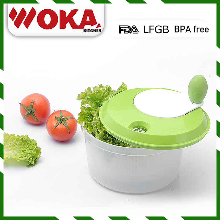 Top supplier cheap hand operated kitchen vegetable salad spinner
