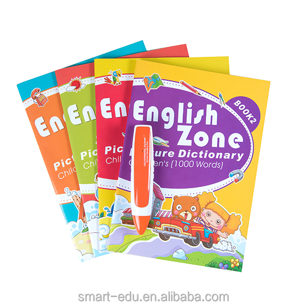 Newest Educational Chinese reading pen children sound book for kids with Learning Zone