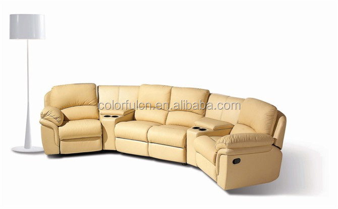 Electric Recliner Sofa In Leather