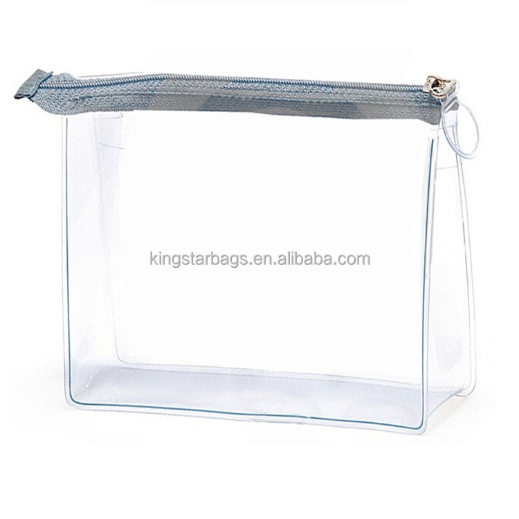 Cheap Heat Sealed Clear PVC Promotional Cosmetic Bag