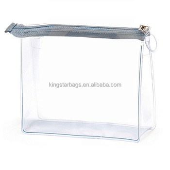 Heat Sealed Clear Pvc Promotional Cosmetic Bag