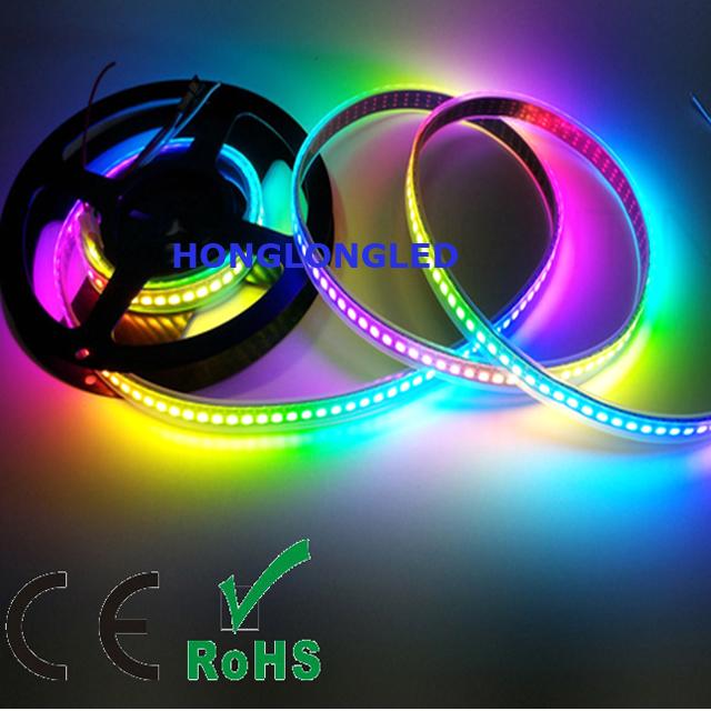 Dc5v 30leds/m Ws2812b Smart Led Pixel Strip 5m Waterproof Ip65 Rgb Individually Addressable Led Strip Black/white Pcb Ws2812 Ic Led Lighting