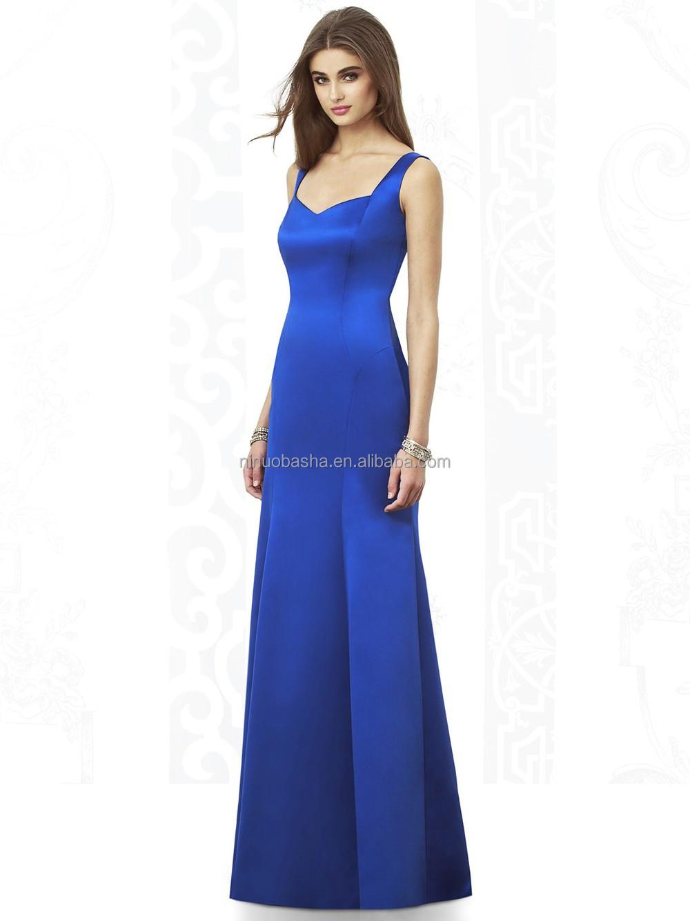 2015 full length long bridesmaid dress patterns in blue color 2015 full length long bridesmaid dress patterns in blue color sweetheart sleeveless zipper satin mermaid ombrellifo Images