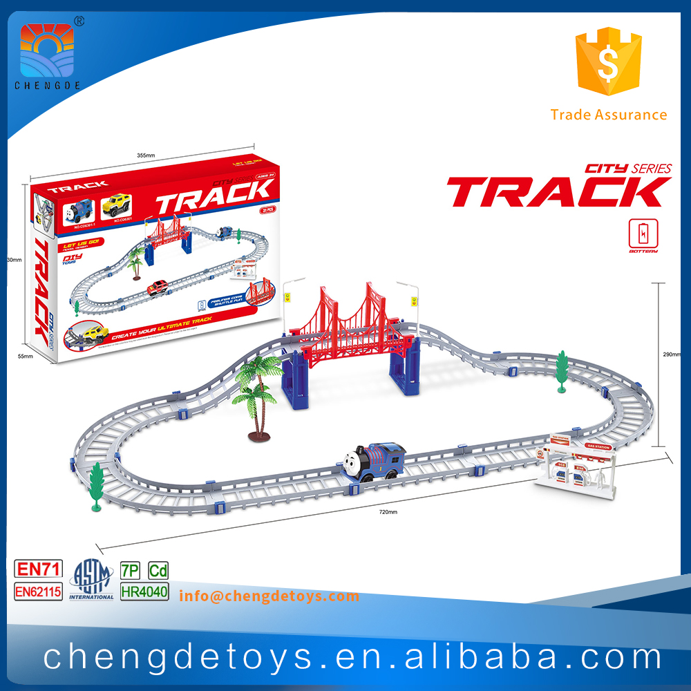 31 PCS 1:64 Plastic Toy Train Tracks For Kids New Toy Magic Tracks With Sound
