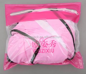 3f7a83b8ad10b Eco-friendly Waterproof PVC Bikini Bag with Ziplock Underwear Swimwear  Promotional Packaging Bag