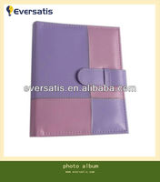pink purple leather cover photo album