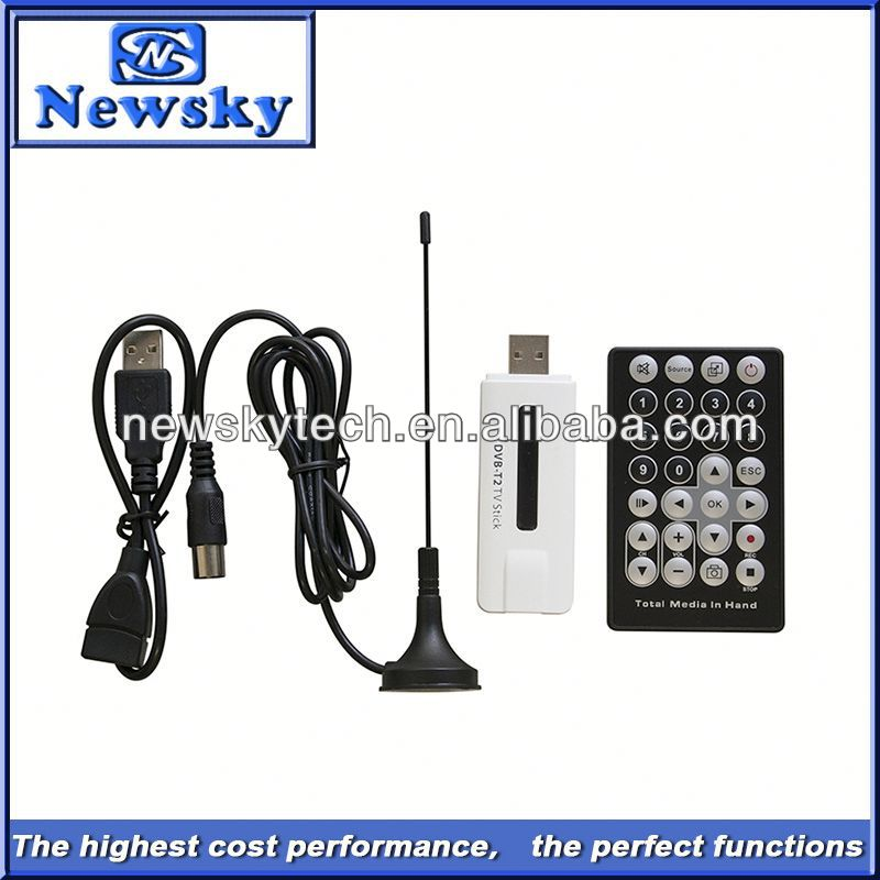 2014 cheap dvb-t2 VHF UHF usb tv tuner dvb t2 support HDTV/SDTV
