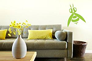 Wall Vinyl Sticker Decals Mural Room Design Pattern Art Hair Style Scissors Bee bo1413