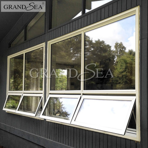 American style cheap aluminum chain winder awning window with grill