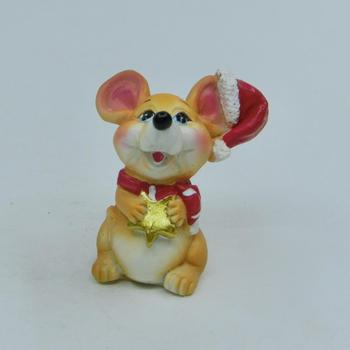 2020 Russia Lovely hand carved animal Rat figurine 3-D resin wholesale polyresin cartoon mouse fiturine