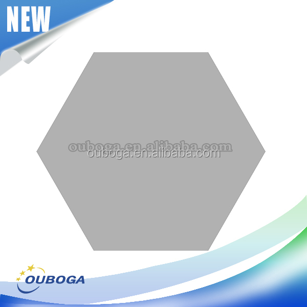 Hot sale hexagon tile new design plastic tile trim fashion pure color tile