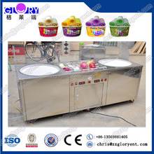 R404a 2+10 Type Thai Cold Flat Pan Fried Ice Cream Machine