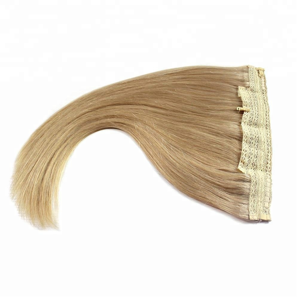 Halo Hair Extension Fish Wire Hair Extensions - Buy Curly Halo Hair ...