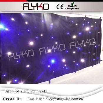 LED wedding decoration curtain 2mx4m led star curtain soft durable fireproof cloth SD controller with DMX functionl