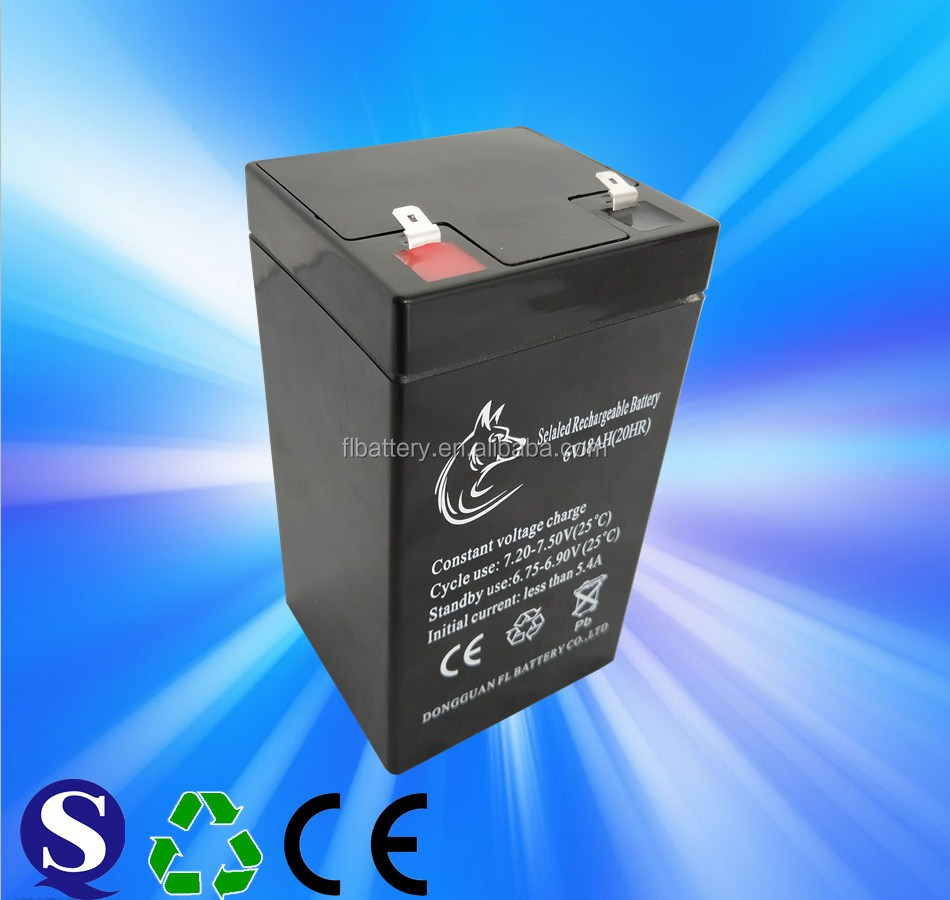 Safe & reliable of 6v 18ah rechargeable lead acid battery
