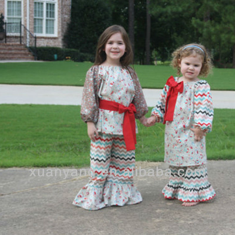 0257JXP baby boutique wholesale children pants sets lace rompers girls ruffle pants
