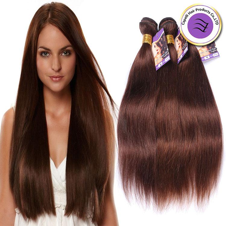Color 4 Alibaba Express Straight Weave Brazilian Human Hair