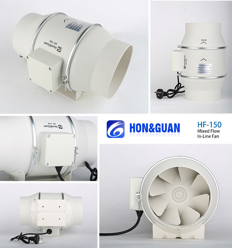 50mm Timer Low Noise Mixed Flow Inline Bathroom Trade Assurance Covered Inline Extractor Fan