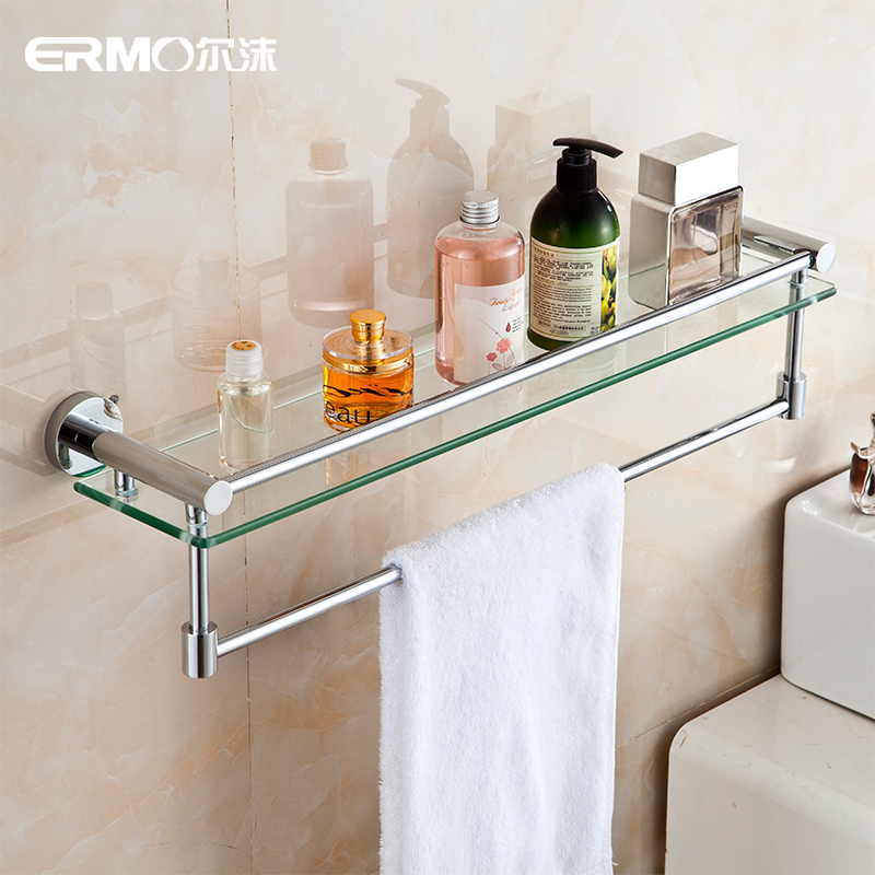 Er mo quality stainless steel shelving racks tempered - Bathroom shelves stainless steel ...