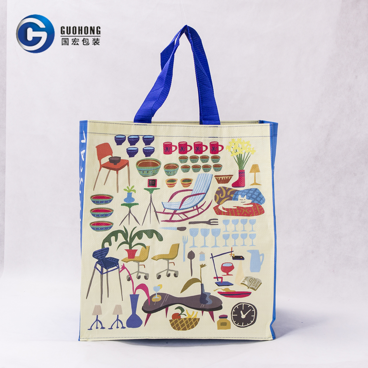 High Quality Promotional Laminated Pp Woven Bag /pp Environmental Shopping Bag/handled Factory Pp Woven Shopping Bag