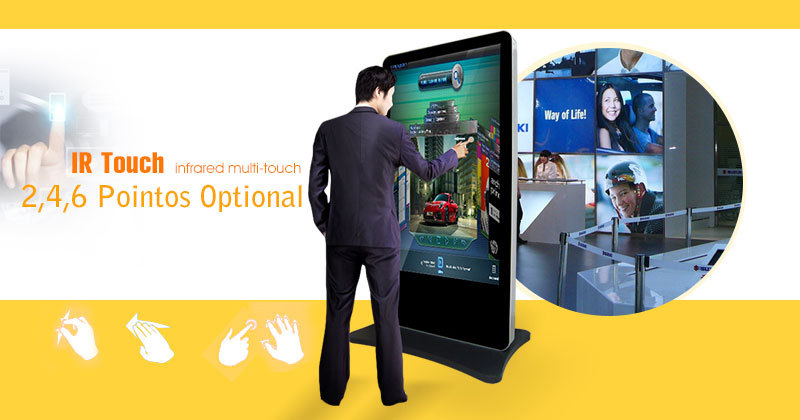 42 47 55 65 Inch touch Interactive 3g 4g wifi led lcd tft hd cctv Digital  totem lg display tv lcd ad multimedia kiosk signage