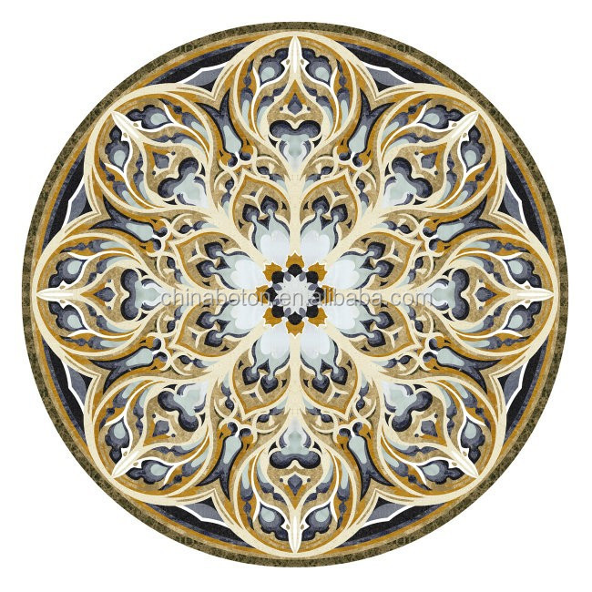 HOT!!!Waterjet marble tiles design floor pattern full polished glazed marble tiles for interior design consult from yunfu