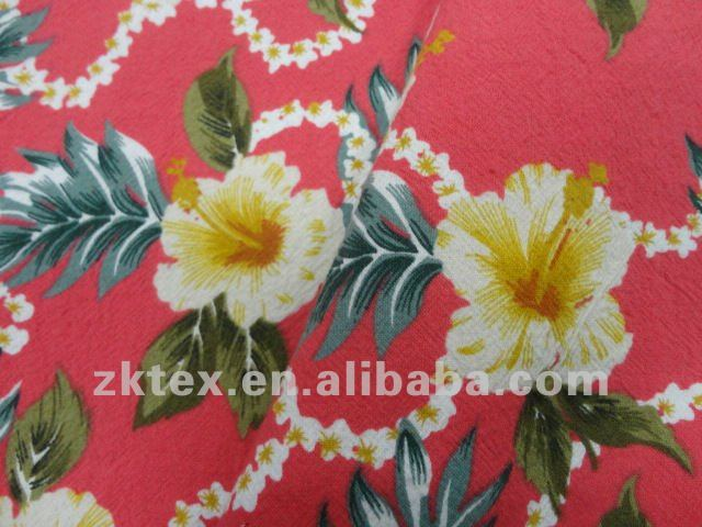 100% cotton crepe poplin flower printed fabric