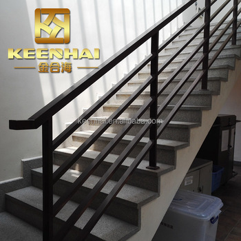 European Style Decorative Indoor Stair Aluminum Wall Mounted Handrail