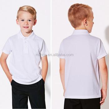ec6333db59 Personalizado Uniformes Escolares Unisex Por Atacado Tecido 100 Algodão de Manga  Curta Camisa Polo T Branco